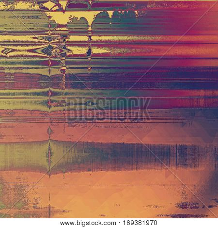 Creative vintage grunge texture or ragged old background for art projects. With different color patterns: yellow (beige); green; red (orange); purple (violet); gray; pink