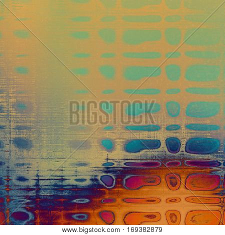 Distressed texture, faded grunge background or backdrop. With different color patterns: yellow (beige); brown; blue; red (orange); purple (violet); cyan