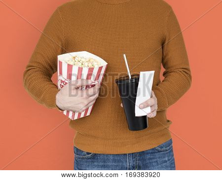 Popcorn Drinks Soda Movie Ticket Theater Leisure Activity