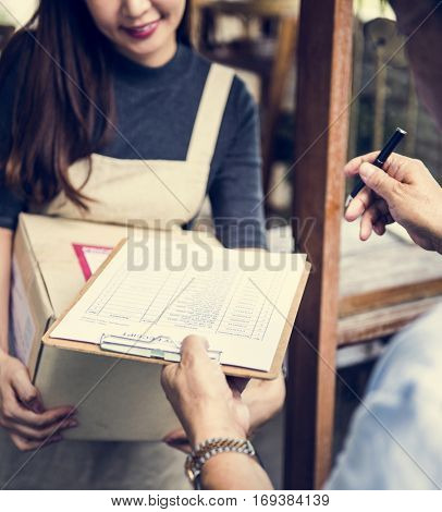 Delivery Courier Freight Package Shipment Carton
