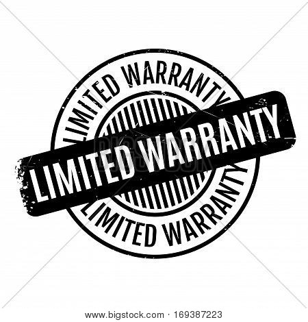 Limited Warranty rubber stamp. Grunge design with dust scratches. Effects can be easily removed for a clean, crisp look. Color is easily changed.