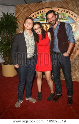LOS ANGELES - DEC 14:  Adam Klein, Hannah Shapiro, Ken McNickle at the