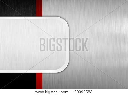 iron template with metal plate background
