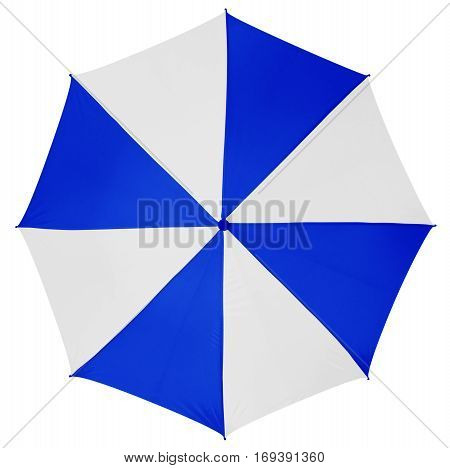 Umbrella Isolated- Blue-white