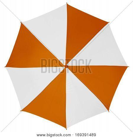 Umbrella Isolated- Orange-white