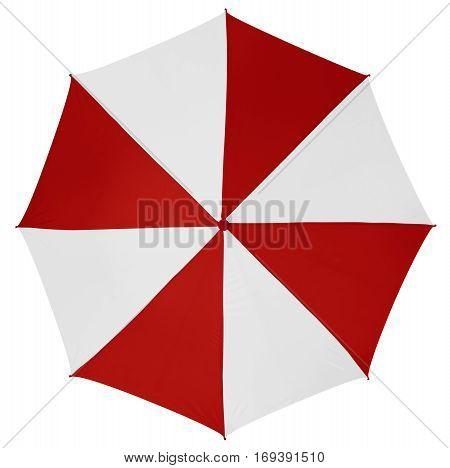 Umbrella Isolated- Red-white
