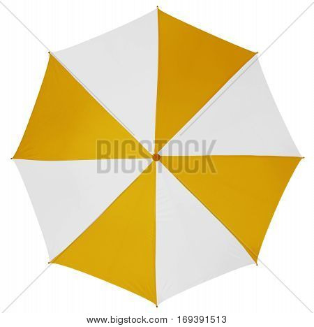 Umbrella Isolated- Yellow-white