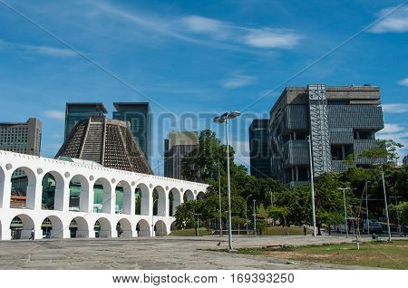 Lapa Arch or Carioca Aqueduct, the Landmark of the City, Rio de Janeiro, Brazil