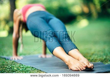 Yoga Reverse Plank Pose Or Purvottanasana
