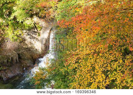 Waterfall in Naruko canyon
