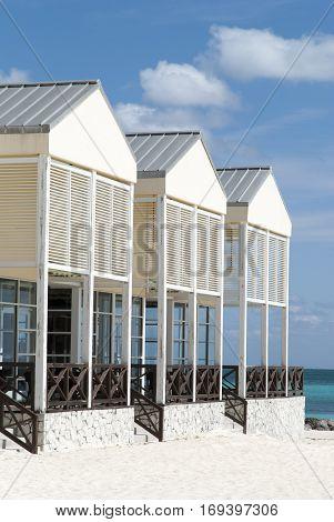 The restaurant standing on Lucaya Beach in Freeport town (Grand Bahama Island).