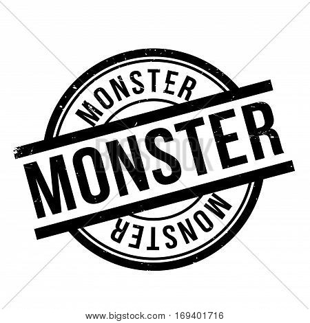 Monster rubber stamp. Grunge design with dust scratches. Effects can be easily removed for a clean, crisp look. Color is easily changed.