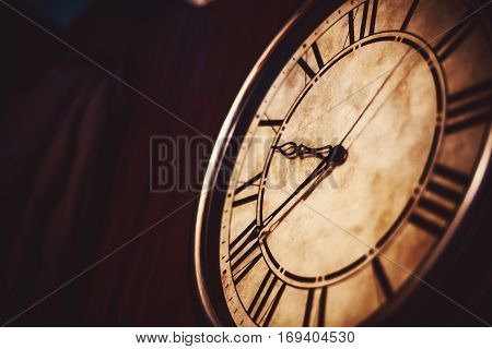 Vintage Clock Abstract