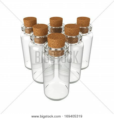 Bottle potion Isolated on White Background, 3D rendering