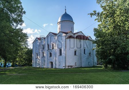 The Church of St. George on the marketplace Veliky NovgorodRussia