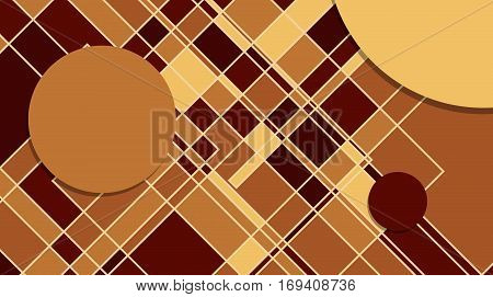 Squares abstract background. Business presentation template. Vector illustration.