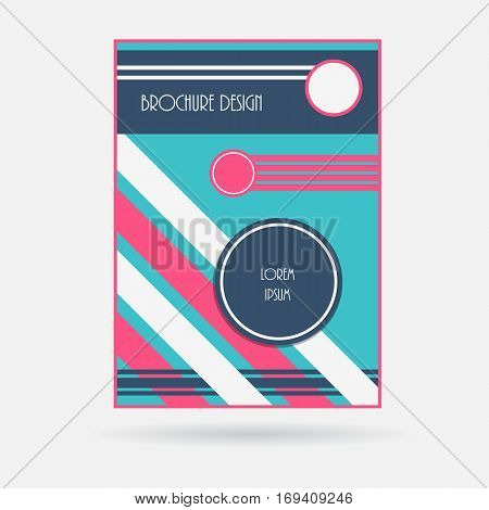 Brochure cover template. Geometric design business report layout. Vector illustration.