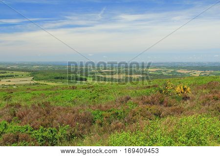 natural landscape in Brittany France - View from Menez Hom