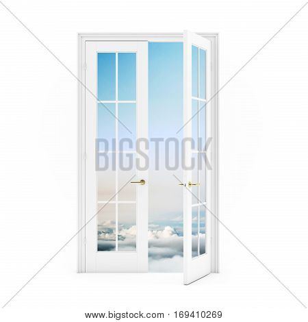 Open  Double Door To The Sky