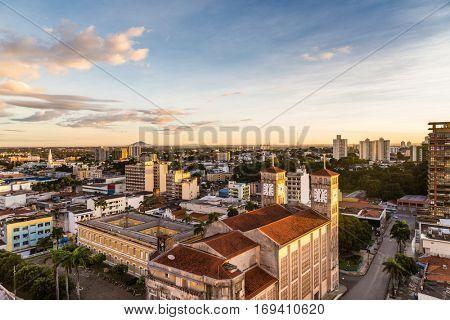 Sunrise at Cuiaba in Mato Grosso, Brazil