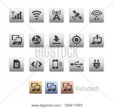 Interface Icons - The vector file includes 4 color versions for each icon in different layers.