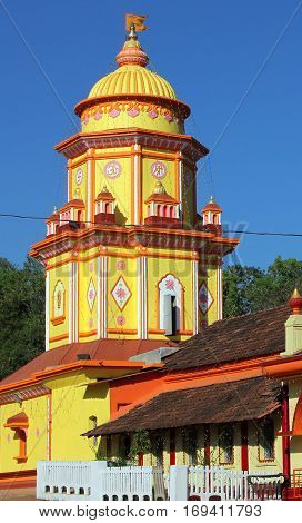 Hindu Temple Chauranginath in Arpora Goa India
