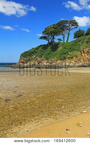 Atlantic Ocean coast near Douarnenez Brittany France