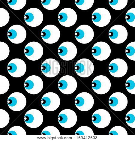 Geometric seamless pattern with abstract eye. Vector seamless pattern with ethnic ornament for design textile, fabric, wrapping paper, package, wear, accessories.