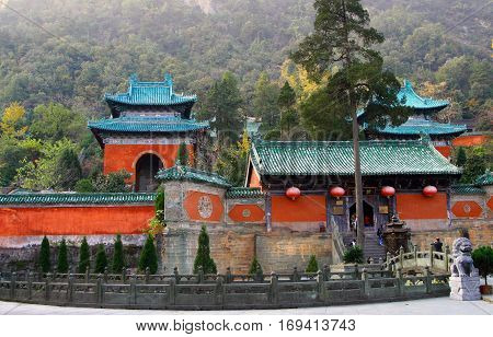 Purple Cloud Temple at Wudang Mountains Hubei province China