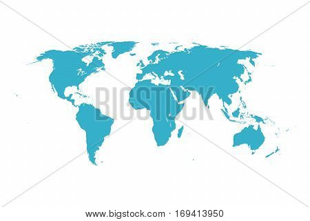 Worldmap vector template. World map for infographic