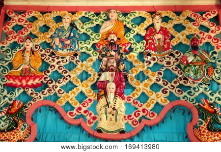 divine pantheon of Cao dai (Caodaism is a monotheistic religion in southern Vietnam)
