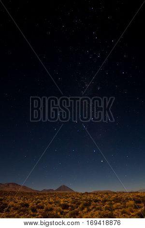 Starry night over the Atacama desert Chile