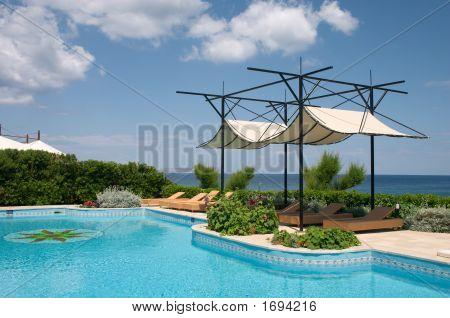 Swimming Pool And Sunshade