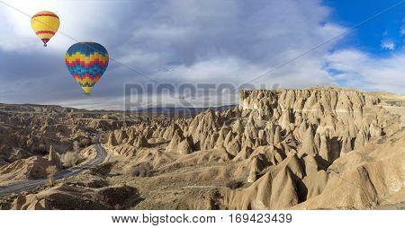 Hot air balloons and Cappadocia