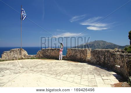 Bastion of old fortress over the capital of Zante. Greece