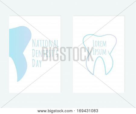 Vector postcard of National Dentist's Day for your design.