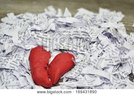 Abstraction Of Broken Relationships.