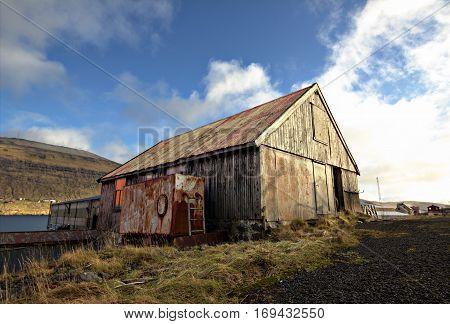 An old shipyard in the Faroe Islands