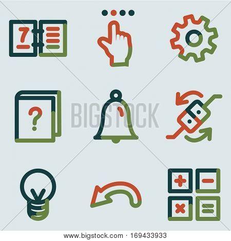 Organizer icons, colour contour series
