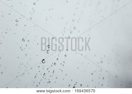 Raindrops Across Window