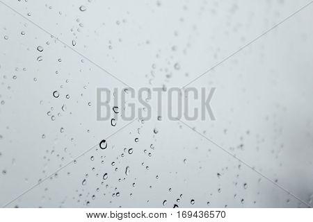 Raindrops Across Window