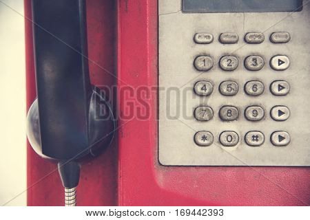 Old Rundown Red Payphone