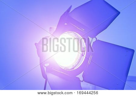 Video Making Reflector. Tungsten Light For Video and Film Production.