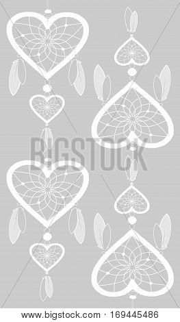 Dream Catcher decorative background - for greeting card