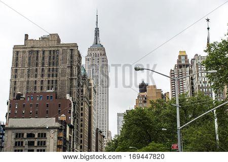 New York City USA Skyline empire state the Big Apple Skyscraper