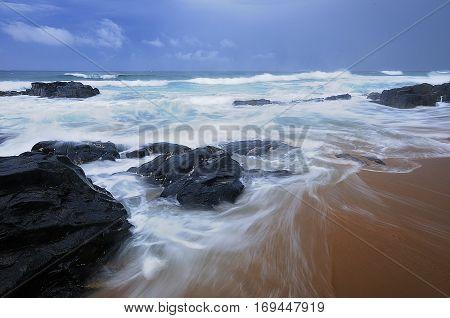 Seascape taken in Amanzimtoti Kwa Zulu Natal South Africa