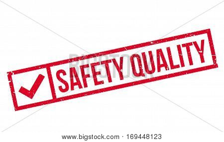 Safety Quality rubber stamp. Grunge design with dust scratches. Effects can be easily removed for a clean, crisp look. Color is easily changed.