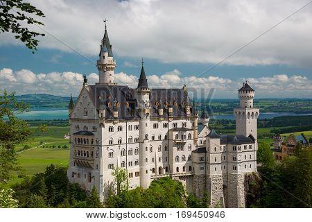 Castle Neuschwanstein In Bavaria, Germany