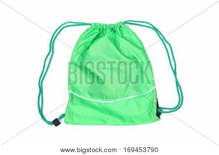 Green drawstring bags for people with an active lifestyle