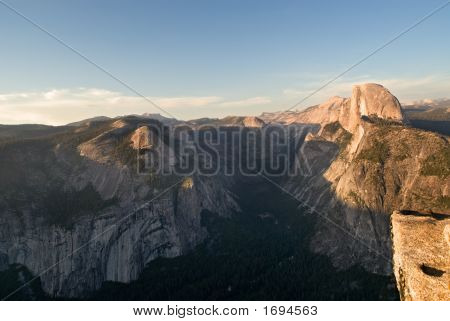 View Of Half Dome From Glacier Point In Yosemite